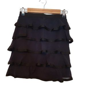 2/$20 - Navy and Black Tiered Mini Skirt